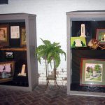 Historic General Dodge House Mourning Exhibit March - November Display cases in the basement displaying types of funeral markers common in the Victorian Era