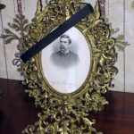 Historic General Dodge House Mourning Exhibit March - November Covering mirrors and photographs of the deceased were typical of mourning in the Victorian period